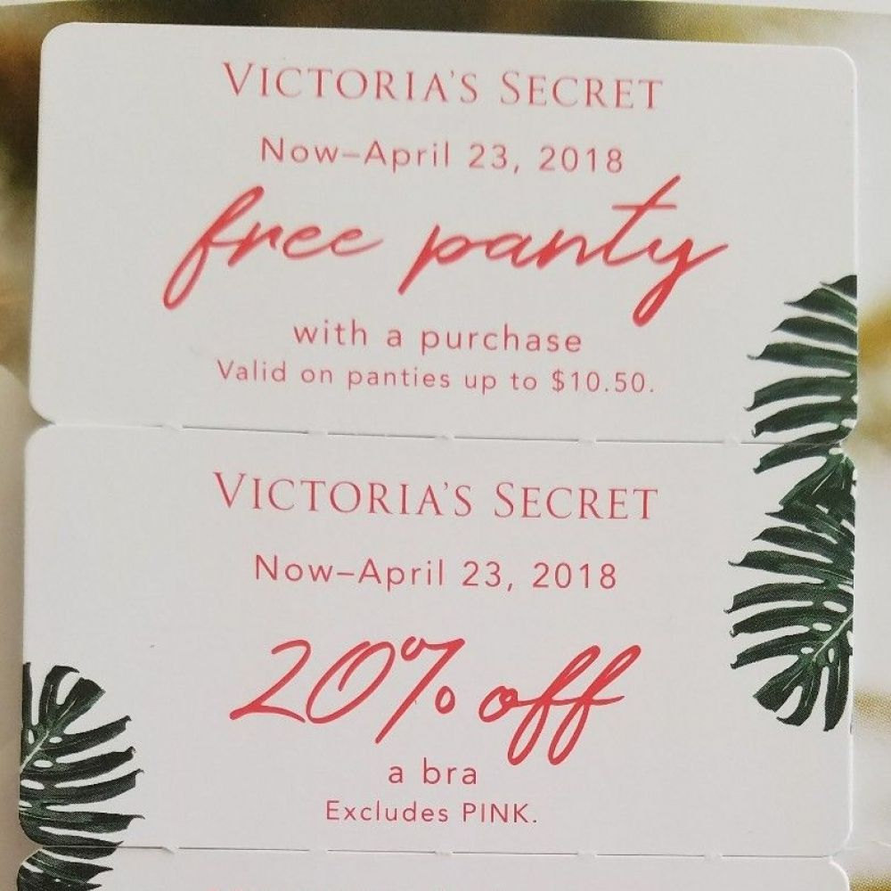 8d3829397f Huge Lot 4 New Victoria s Secret Coupons Panty 20% Off Bra Tote Bag VS Very  Sexy