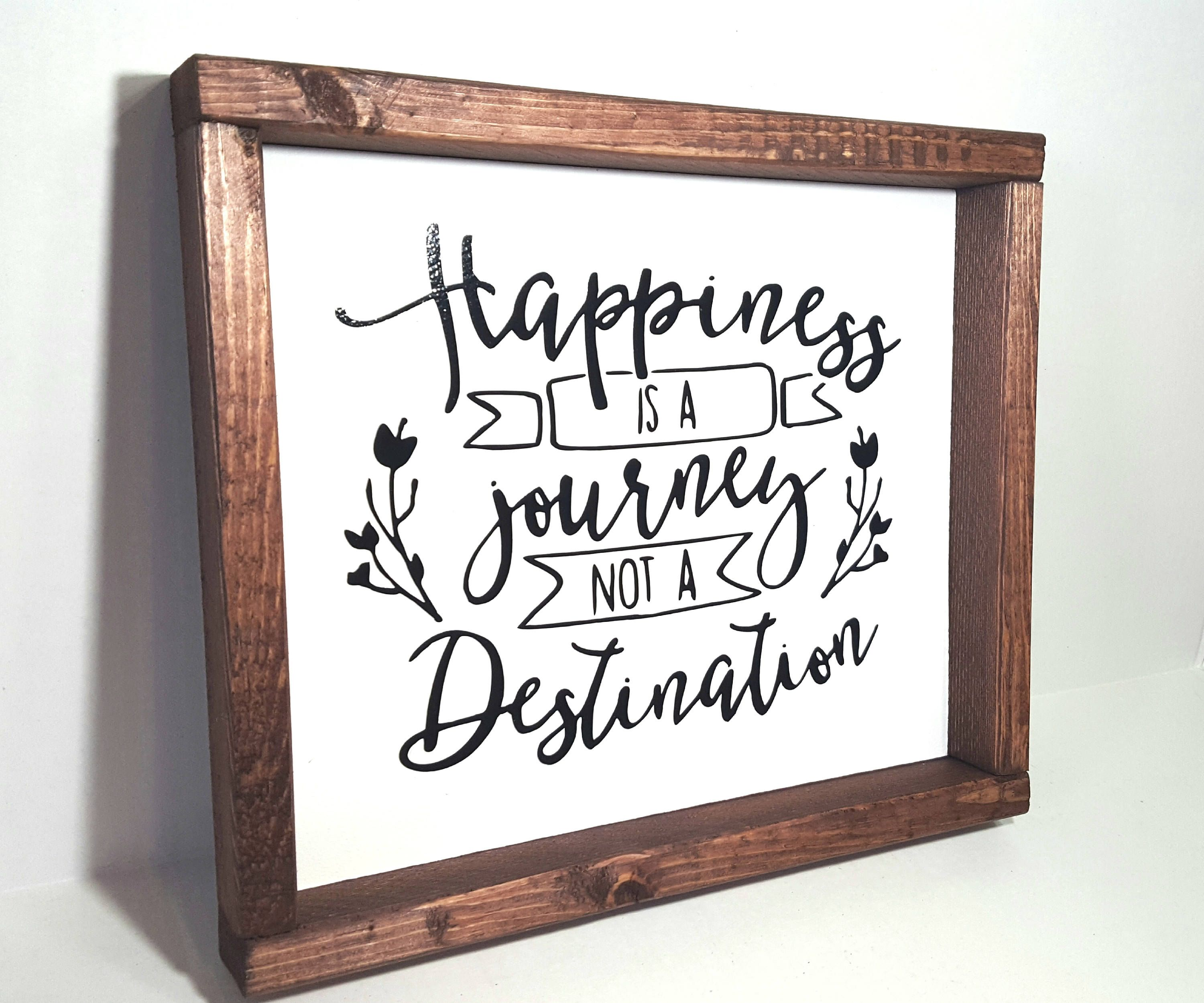 Wood Sign Framed Wood Sign Quote Sign Motivational Sign Rustic Wood Sign Happiness Wedding Sign Farmhouse S With Images Wood Frame Sign Wood Signs Rustic Wood Signs