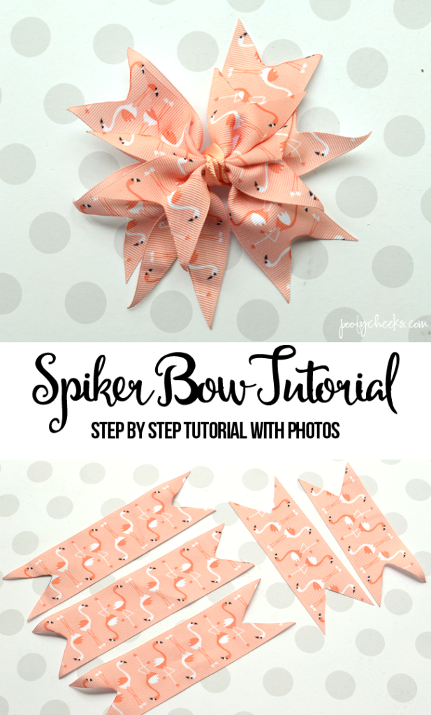 Spiker Bow Tutorial with Step by Step Photos #hairbows