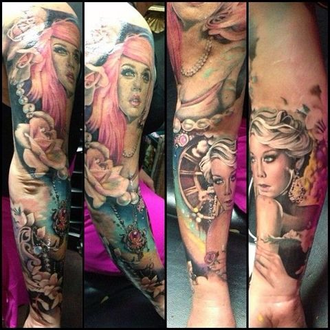 Sleeve by Teneile Napoli... If I am ever brave enough to get one.. It must be by her