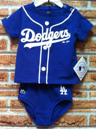 f3304e20 Los-Angeles-Dodgers-Baby-Infant -2-Pc-T-Shirt-and-Bottom-Set-Size-12-18-24-Months