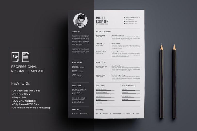 resumecv by deviserpark on ready for print resume template examples creative design and great covers perfect in modern and stylish corporate business - Resume Templates Indesign