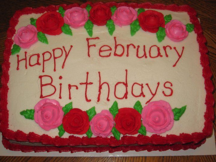 February Birthday Cake Images Pics Photos