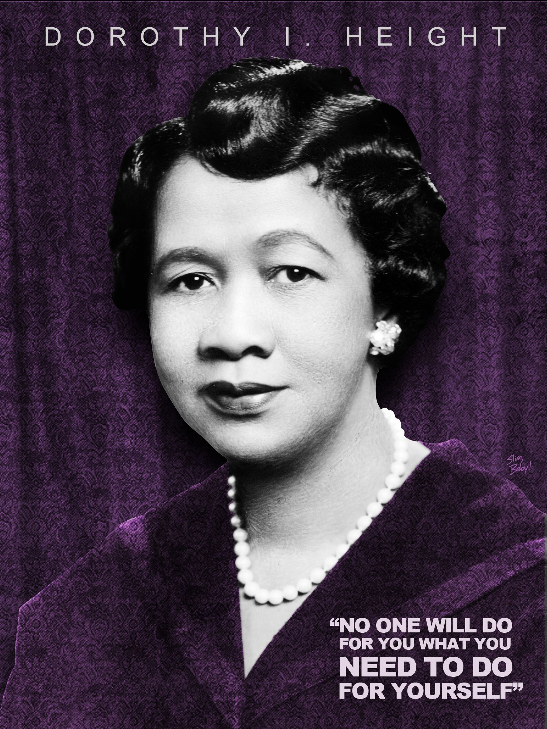 Dorothy I. Height BlackHistoryMonth Tribute Design (2/28