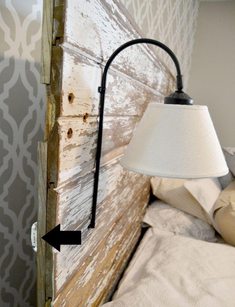 Diy Plug In Wall Sconce For Headboard Wall Lights Diy Headboard