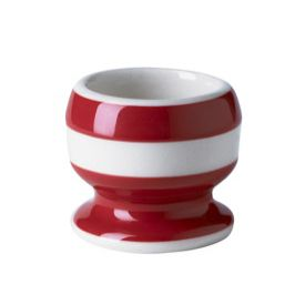 Cornish Red footed egg cup 5x4.4cm. Give your morning three-minuter a pretty place to rest its head. (We also have egg cups without footers.)