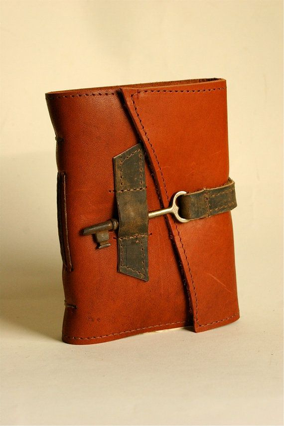 Red Leather Journal with Handmade Paper by Binding Bee in Indianapolis, Indiana