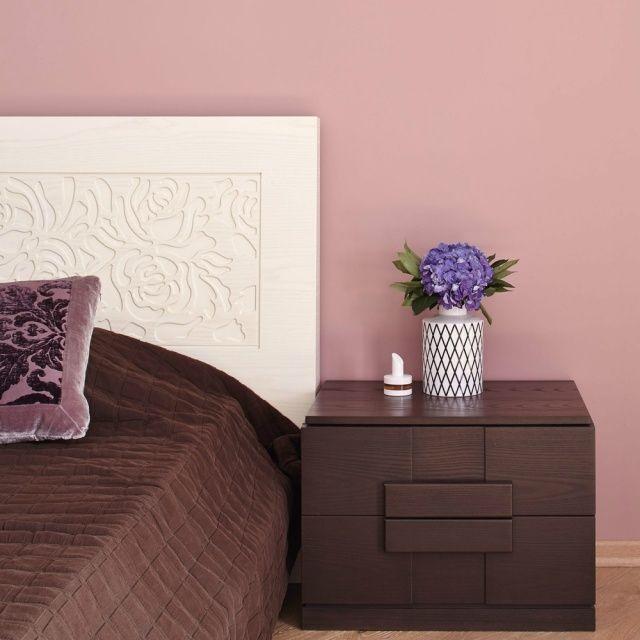 Schlafzimmer Dekorieren Wandfarbe Altrosa Dekoratives