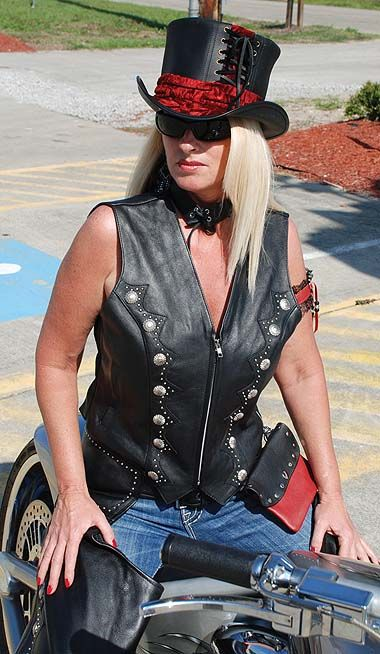 Zip Front Western Leather Vest For Women Vl5076Sk  Leather Vest, Vest, Leather-6362