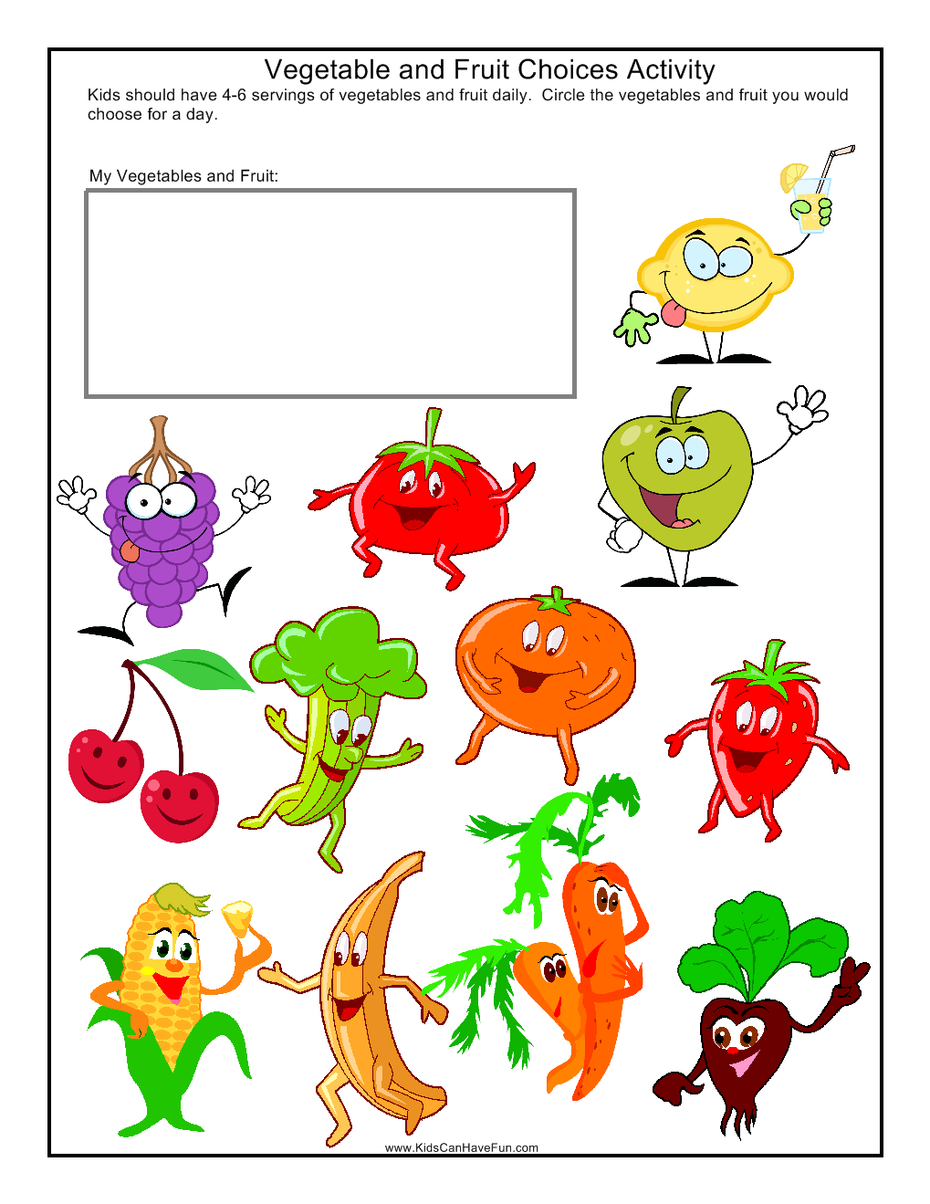 This fruit and vegetable finder is a fun colouring activity that ...