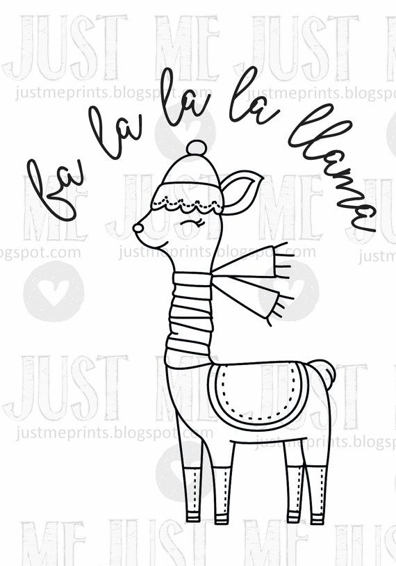 Llama De Fa La La La Llama Christmas Hand Embroidery Patterns Coloring Pages