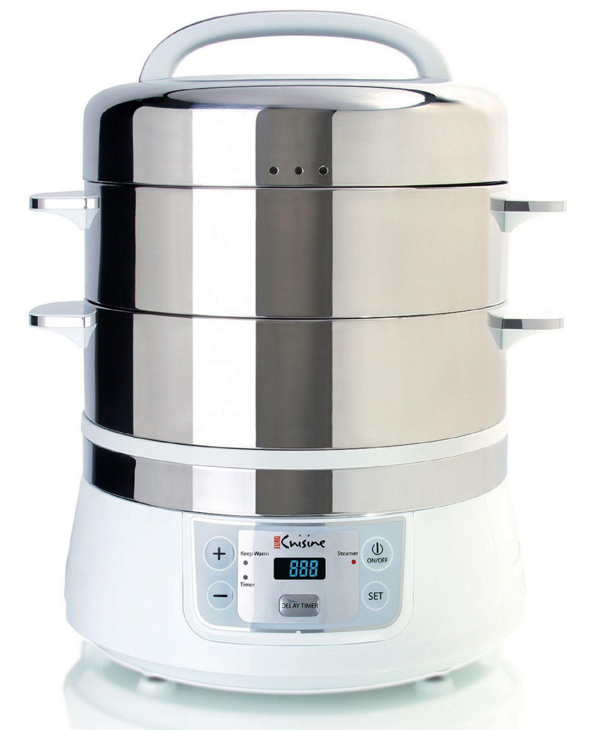 Eurocuisine Euro Cuisine Fs2500 Stainless Steel Electric Food Steamer Reviews Small Appliances Kitchen