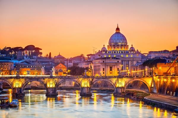 The Colosseum and St. Peter 's Basilica are essential stops