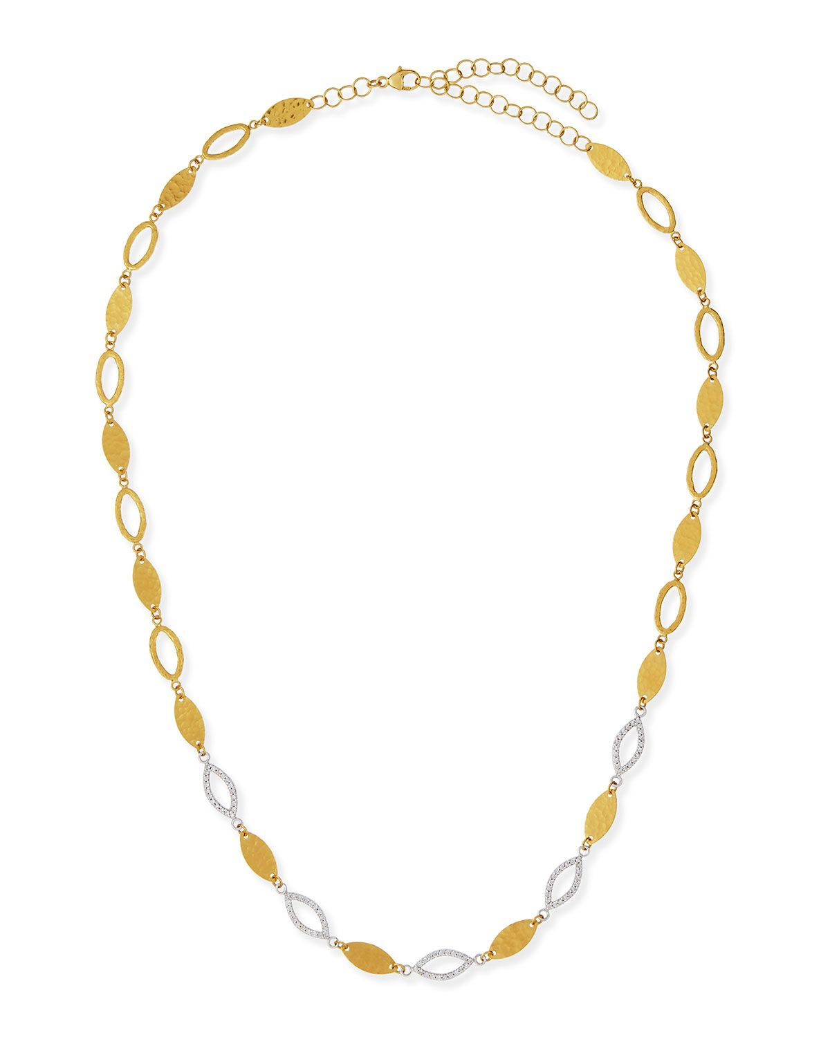 Willow 24k Gold & Diamond Short Necklace - Gurhan