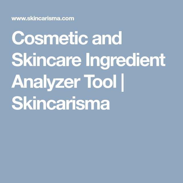 Cosmetic and Skincare Ingredient Analyzer Tool   Skincarisma   Skin
