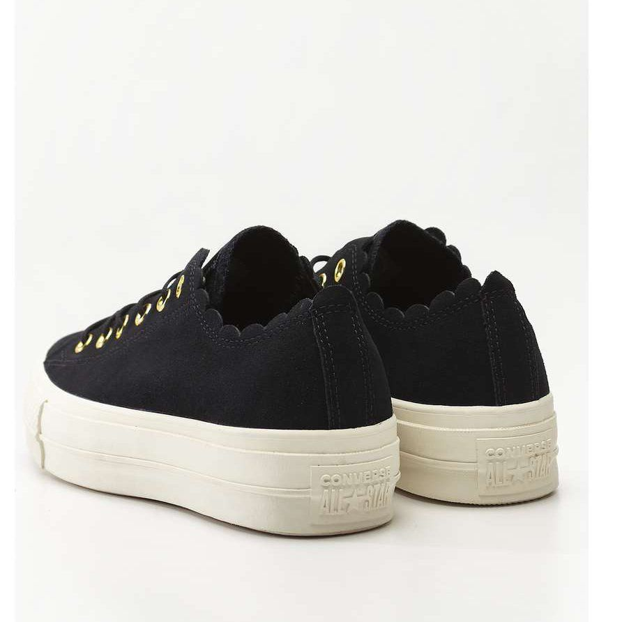 Converse Chuck Taylor All Star Lift Scallop 499 Black Gold