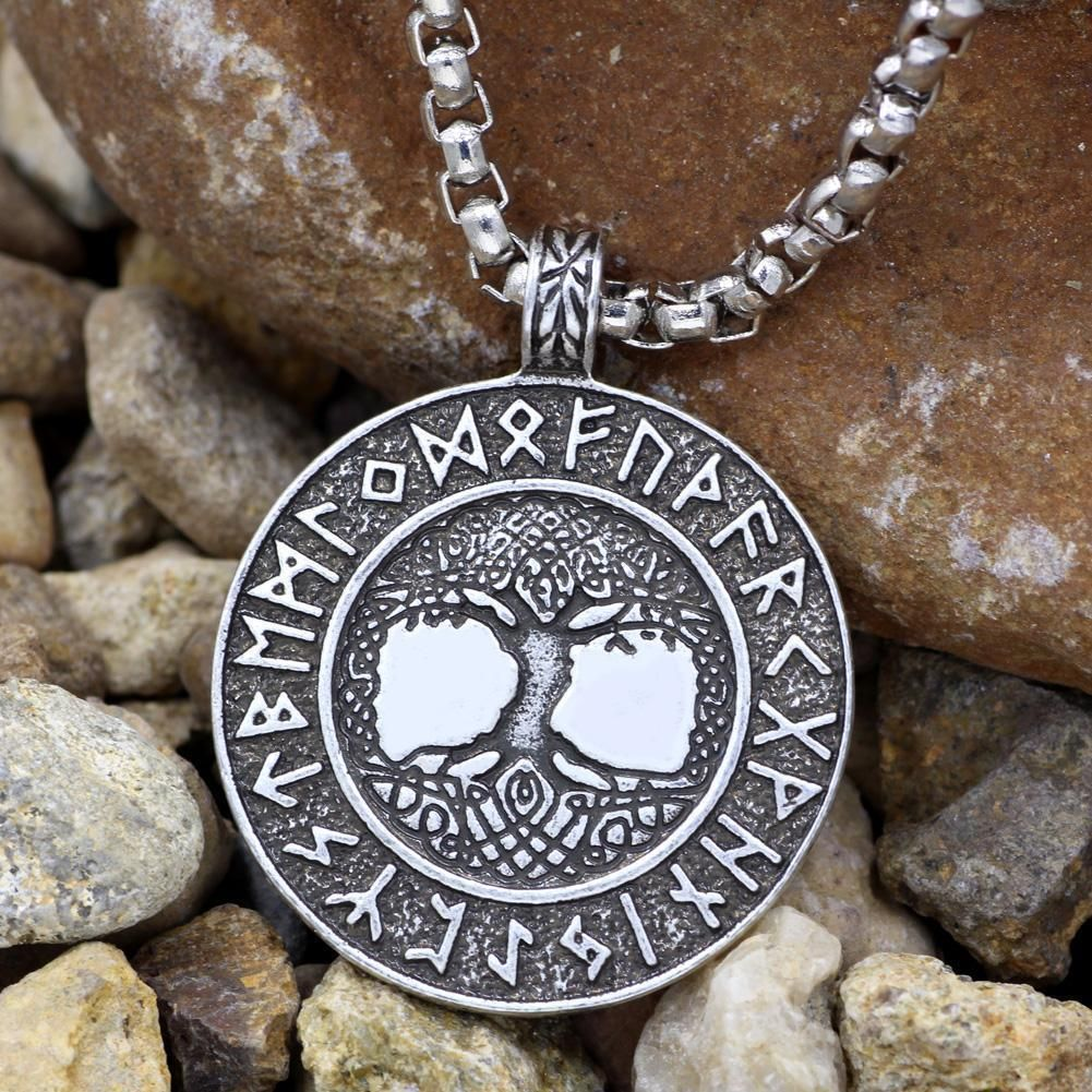 Nordic Tree of Life Pendant in zinc alloy on silver box