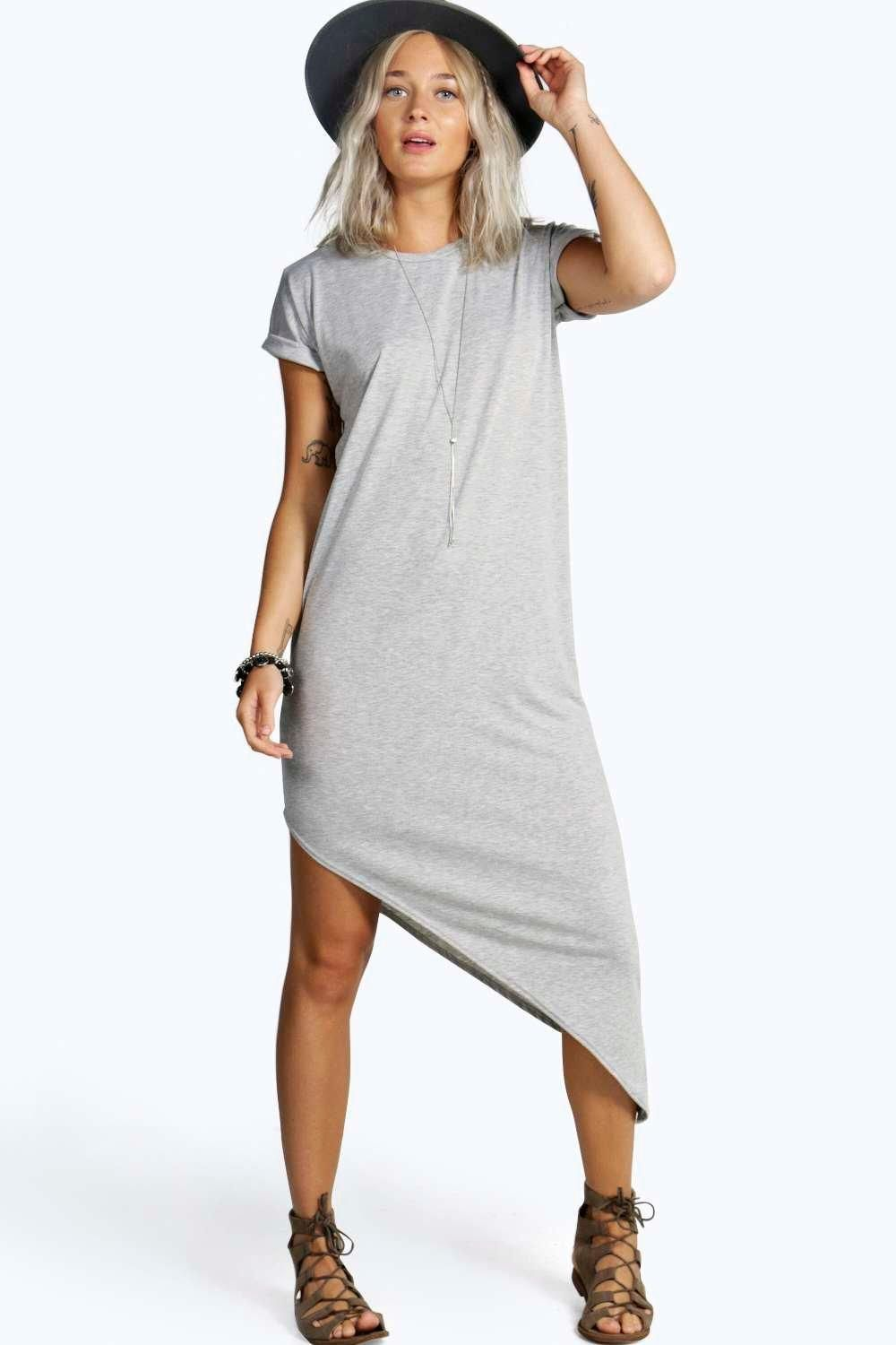 Distressed, T-Shirt Femme, Blanc, SmallBoohoo
