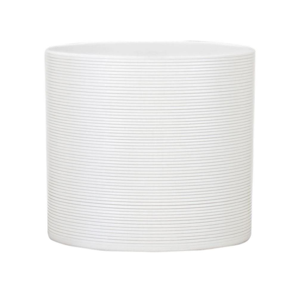 10 In Dia Panna White Ceramic Pot 53658 The Home Depot Ceramic Pot White Ceramic Planter Indoor Plant Pots