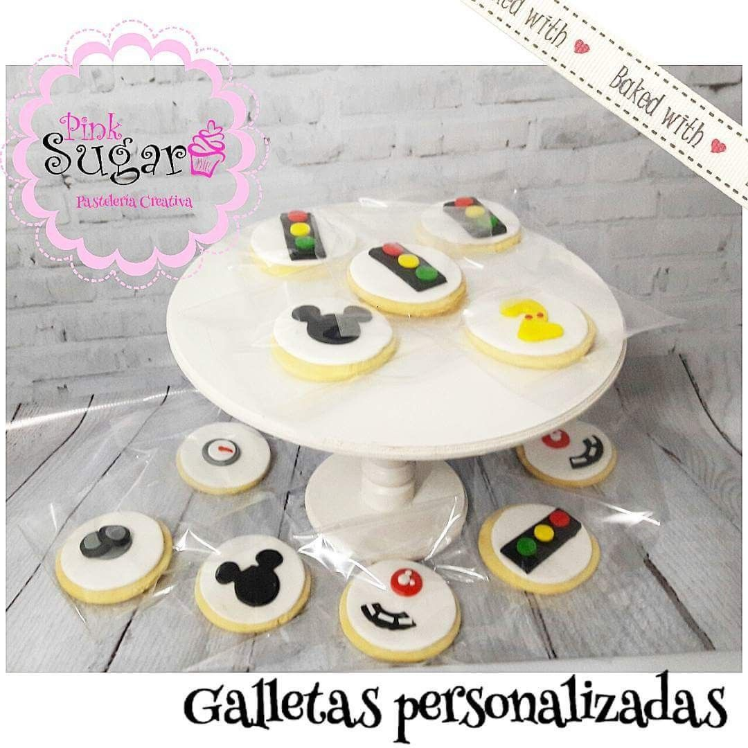 Galletas Decoradas En Fondant Mickey Sobre Ruedas Sugar