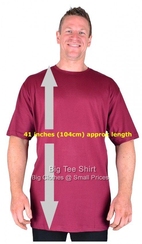 23054953 Wine Long Tall T Shirt/Nightshirt L XL 2xl 3xl 4xl 5xl 6xl 7xl 8xl ...