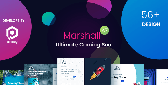 Marshall The Ultimate Coming Soon Template Templates Website Template Browser Support