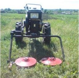 установка косилки от мотоблока на самодельный трактор