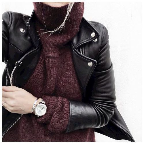 Sweaters + Leather Jackets