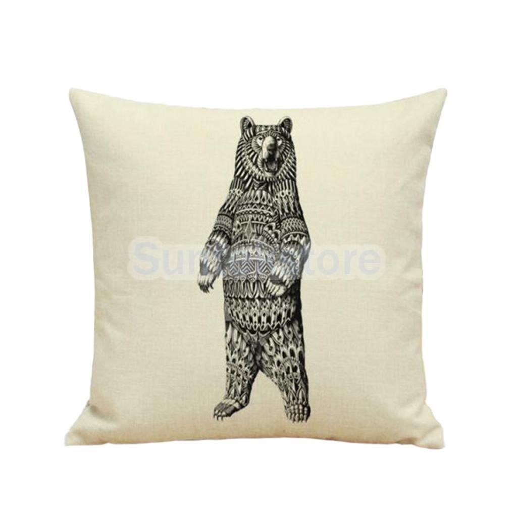 D print bed sofa cushion cover throw pillow case home caranimal