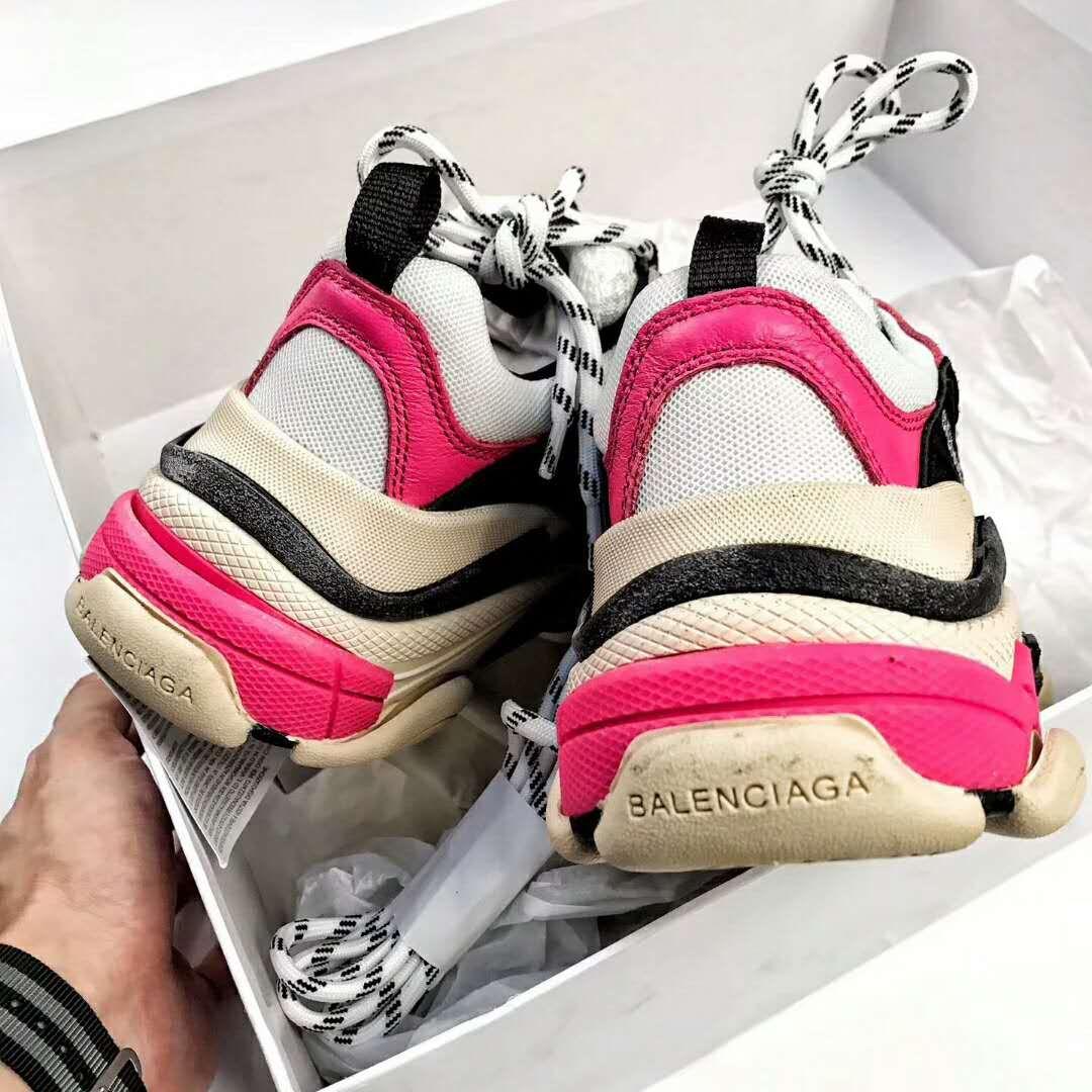 La migliore vendita del 2019 designer nuovo e usato ultima vendita Balenciaga Triple S Sneaker Pink Black   Abbigliamento