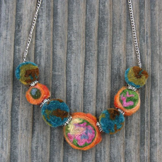 Another crazy cool felt necklace