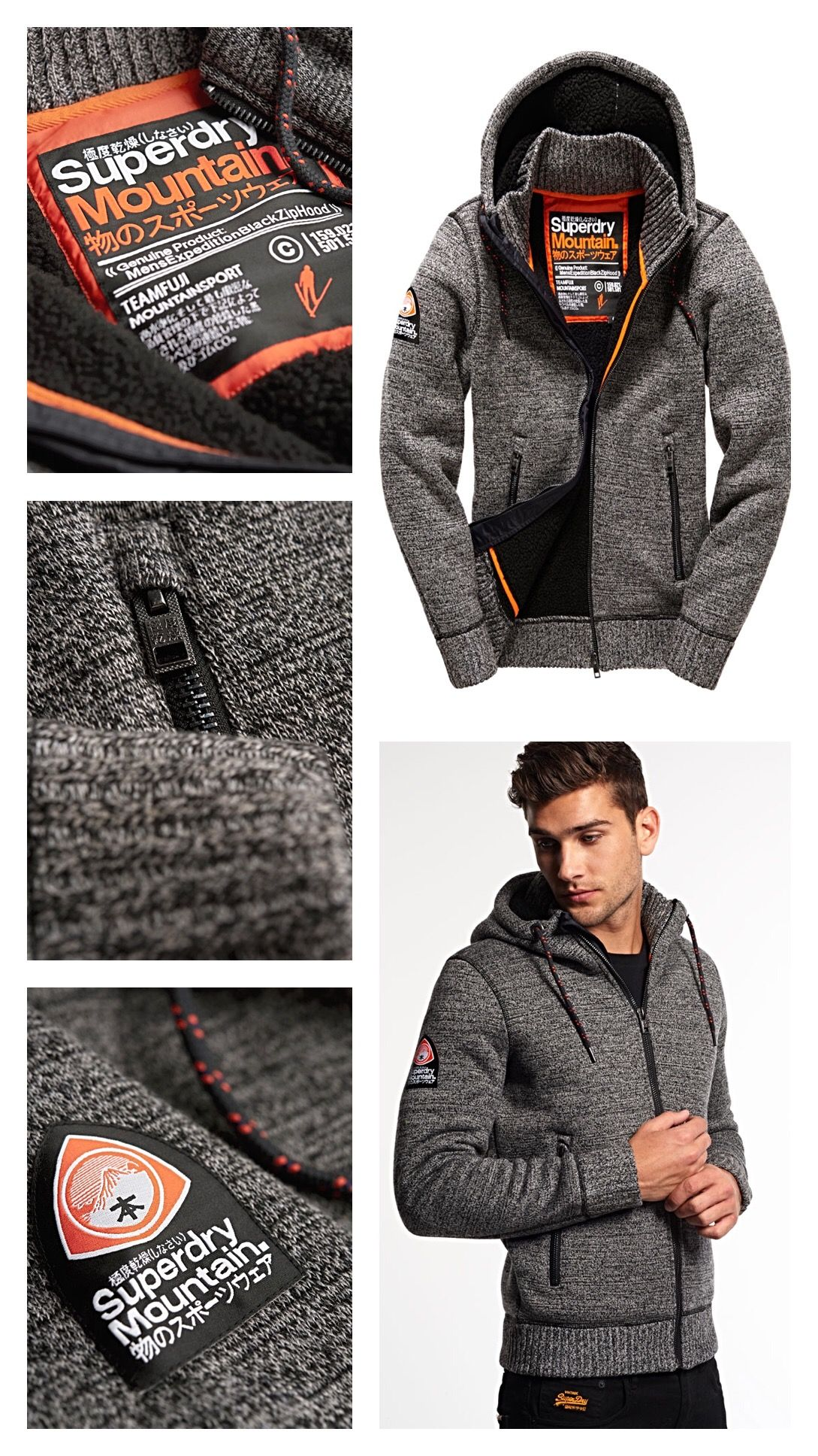 sports shoes d740a 52ff8 SUPERDRY Expedition Zip Hoodie | SUPERDRY | Männer outfit ...