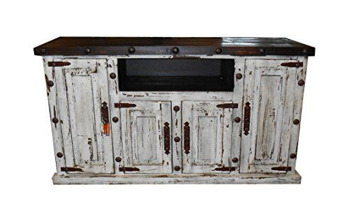 Hi End Rustic Medieval Hand Scrape 65 Inch Tv Stand White Distressed
