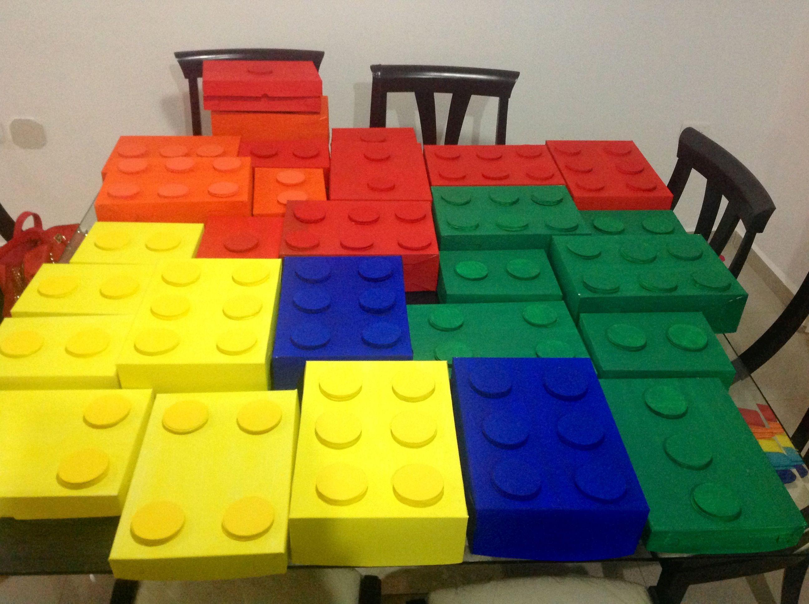 cajas decoraci n fiesta tema lego fiestas infantiles