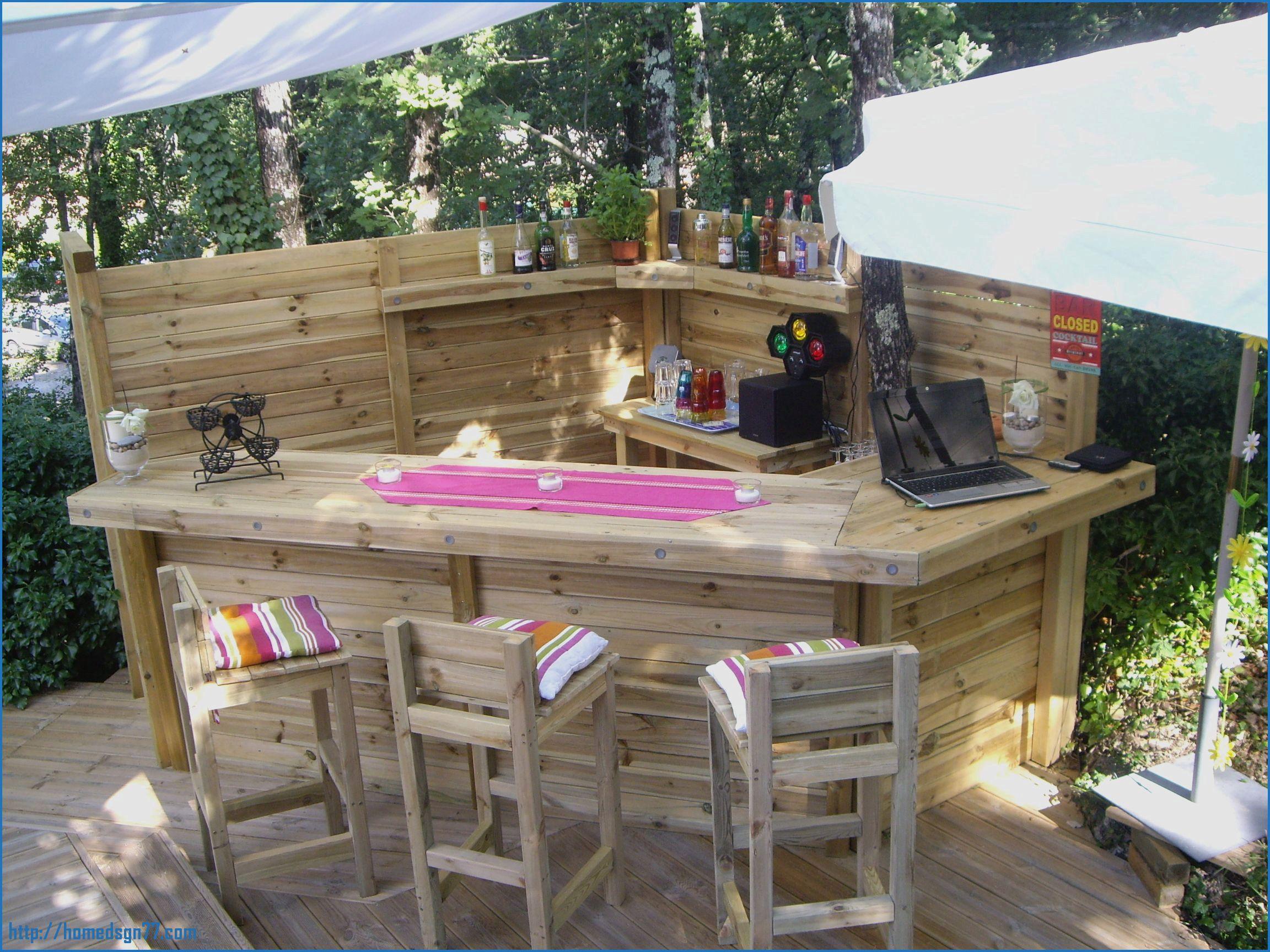 bar exterieur en bois frais bar ilot