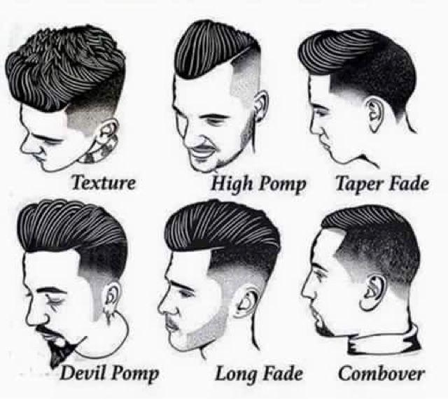 Cortes de cabello hombre y sus nombres