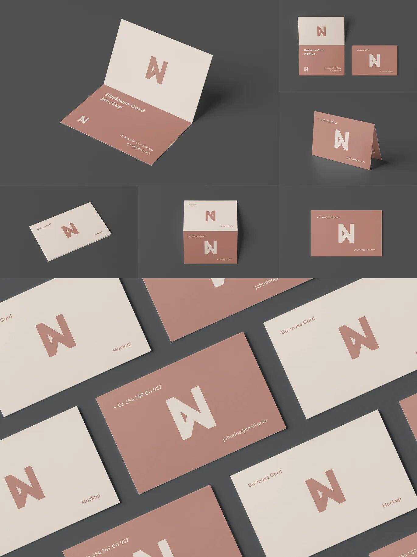 Bi Fold Business Card Mock Up By Yogurt86 On Envato Elements Folded Business Cards Business Card Mock Up Business Cards