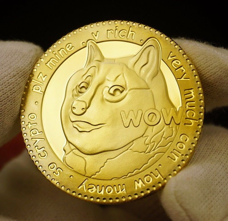 CryptoCoin Gold Plated collectible Commemorative Free Ship DOGE 2018 Dogecoin