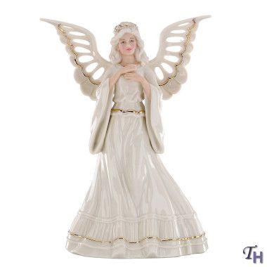 lenox figurines | Lenox Adoring Angel Tree Topper Figurine - Lenox Figurines Lenox Adoring Angel Tree Topper Figurine LENOX