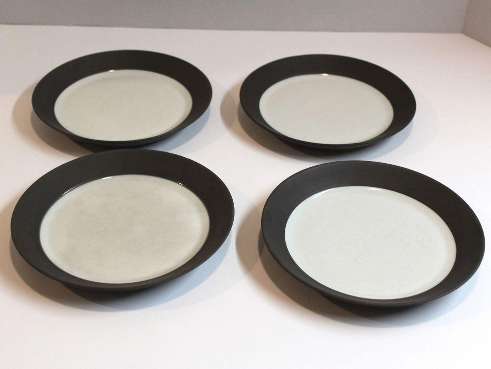 Set of 4 Vintage Dansk Flamestone Smooth Brown Stoneware Bread u0026 Butter Plates #Dansko & Set of 4 Vintage Dansk Flamestone Smooth Brown Stoneware Bread ...