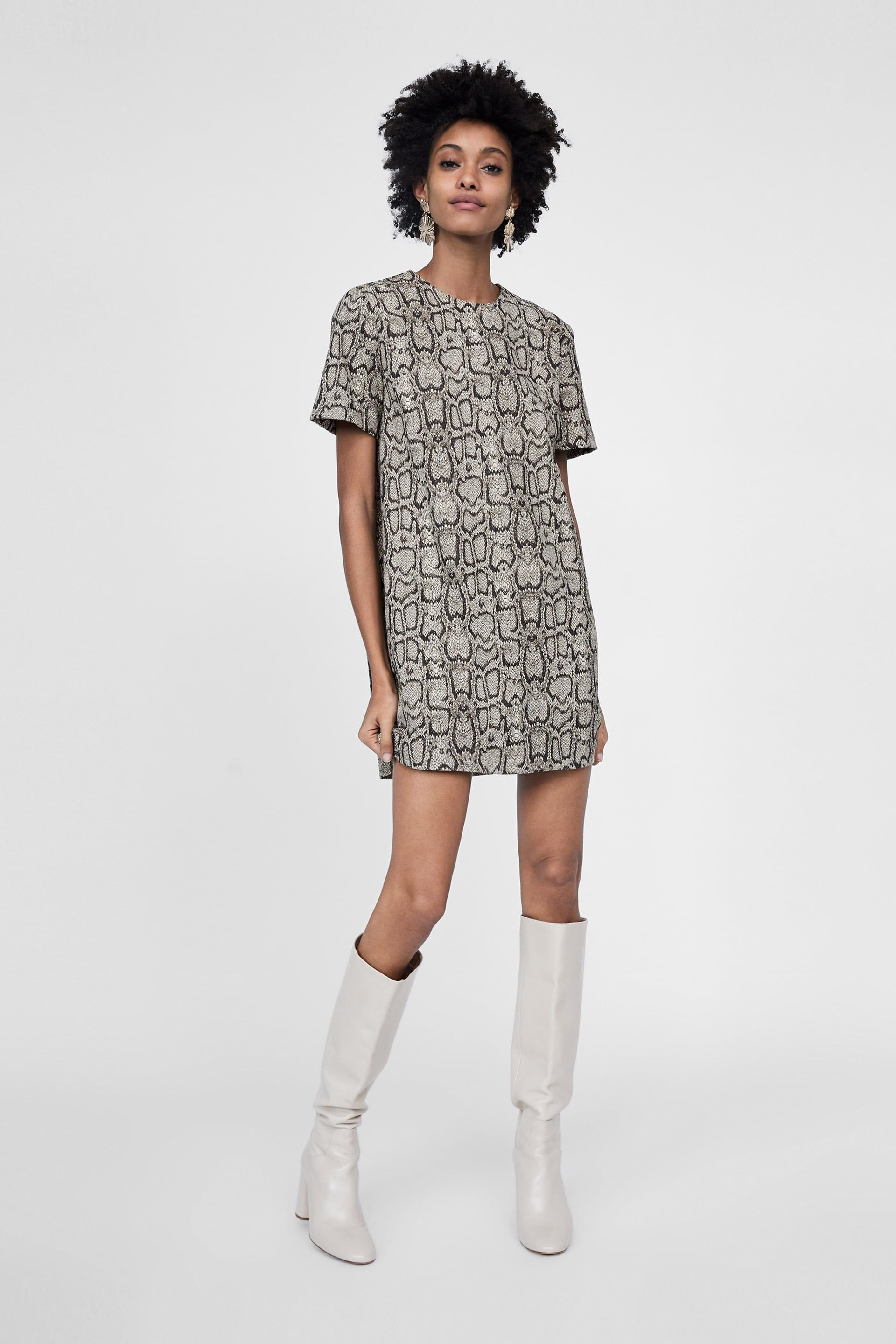 2114d02b6b8a Image 1 of SNAKESKIN PRINT JACQUARD DRESS from Zara | clothes in ...