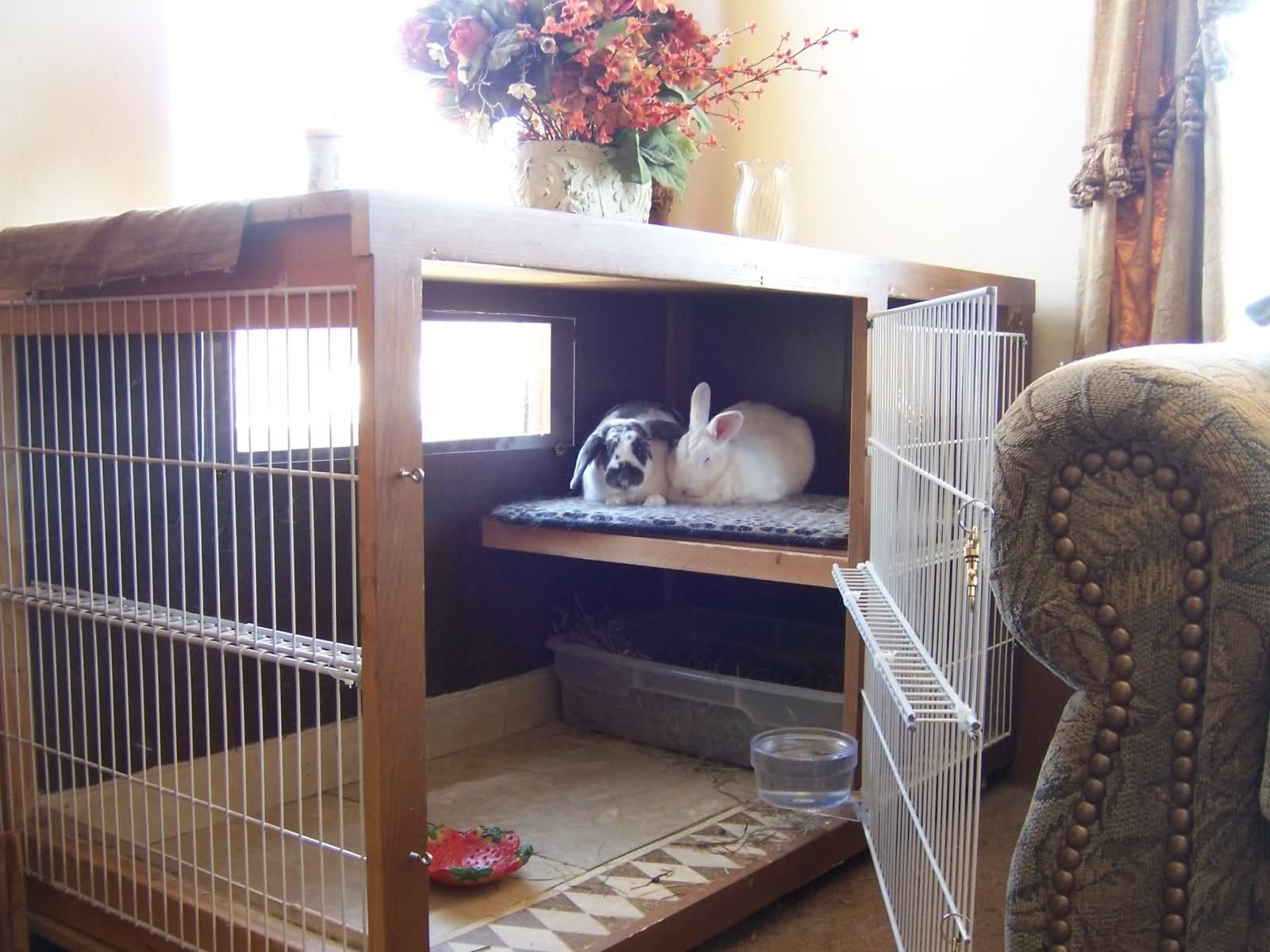 Nice little quiet area for your house bunnies to retreat ...