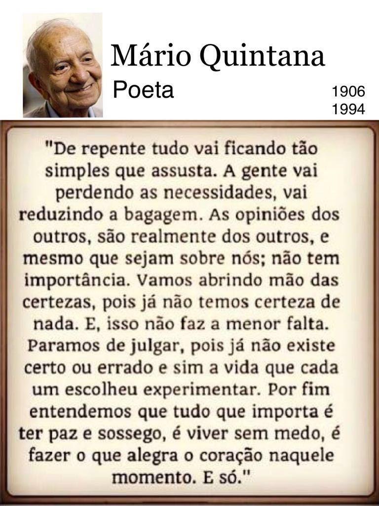 Mário Quintana Frases Inspiracionais Citações
