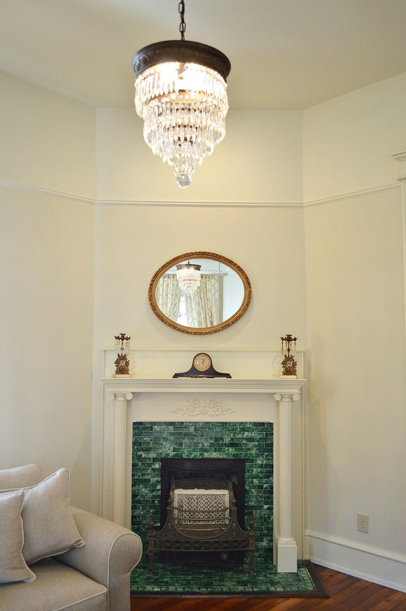 Southern Romance Home Makeover Reveal Victorian fireplace
