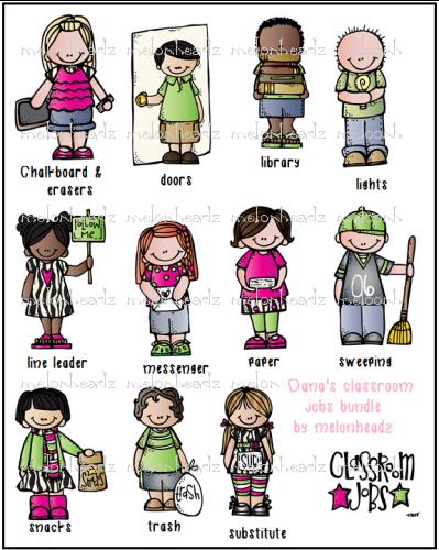 Line Art Jobs : Classroom jobs bundle melonheadz font and graphics