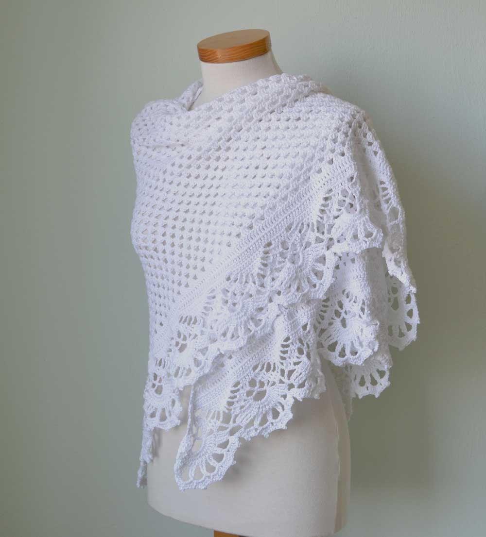 VICTORIA, Crochet shawl pattern, PDF | chales | Pinterest | Chal de ...