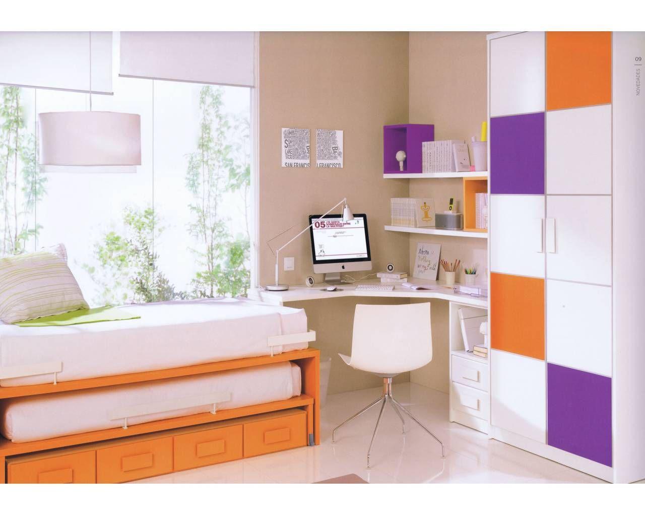 Escritorio juvenil buscar con google ines for Dormitorios juveniles con escritorio