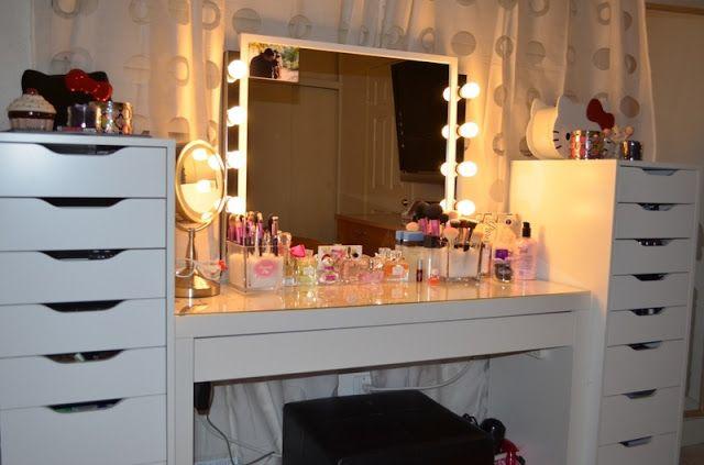 Sunshine Makeup Vanity Room Update Vanity Room Malm Dressing Table Ikea Makeup Vanity