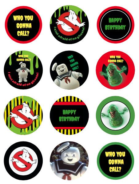 image regarding Ghostbusters Printable named Ghostbusters cupcake toppers or stickers like tags electronic
