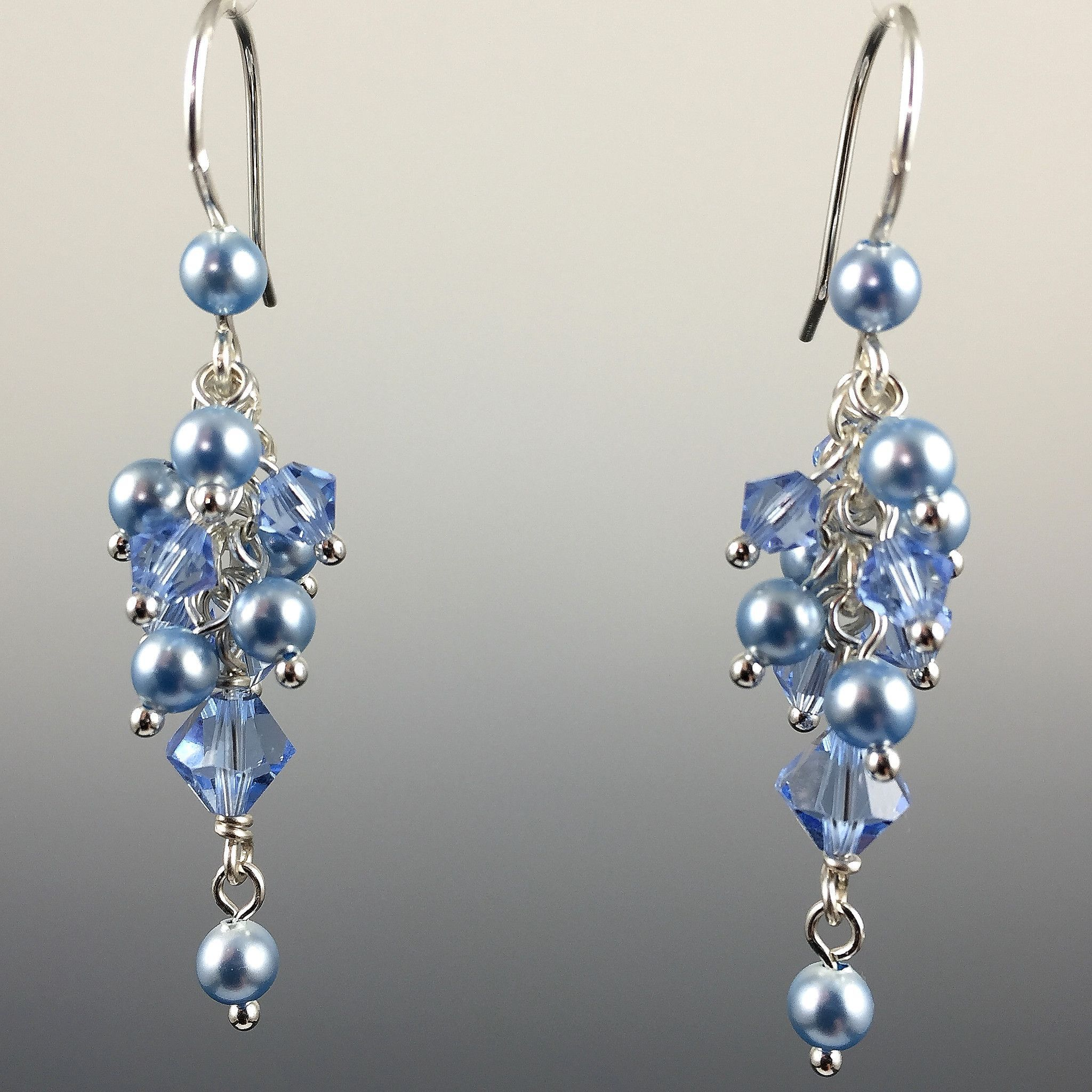 Swarovski Crystal & Sterling Silver Cluster Earrings ...
